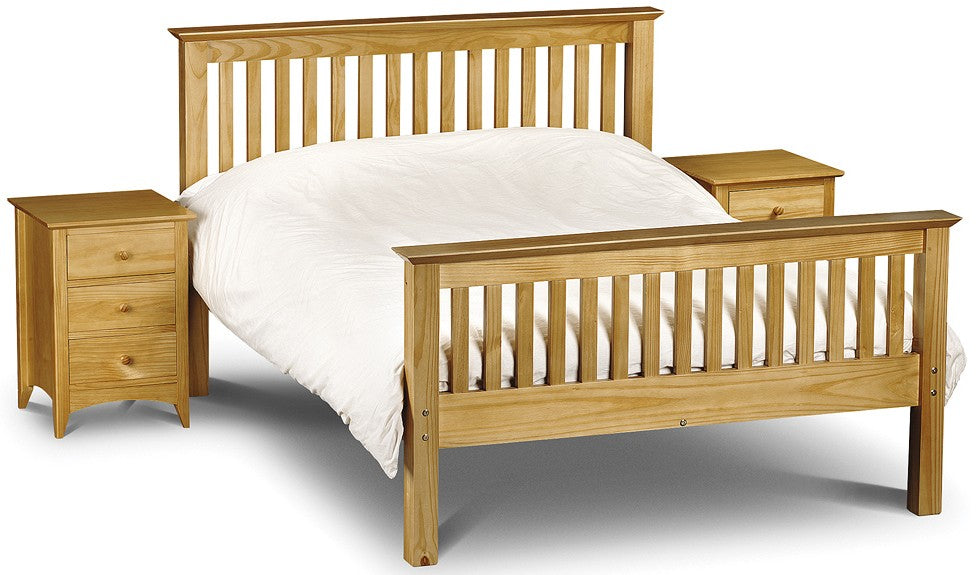 Barcelona Pine Wooden High Foot End Bed Frame