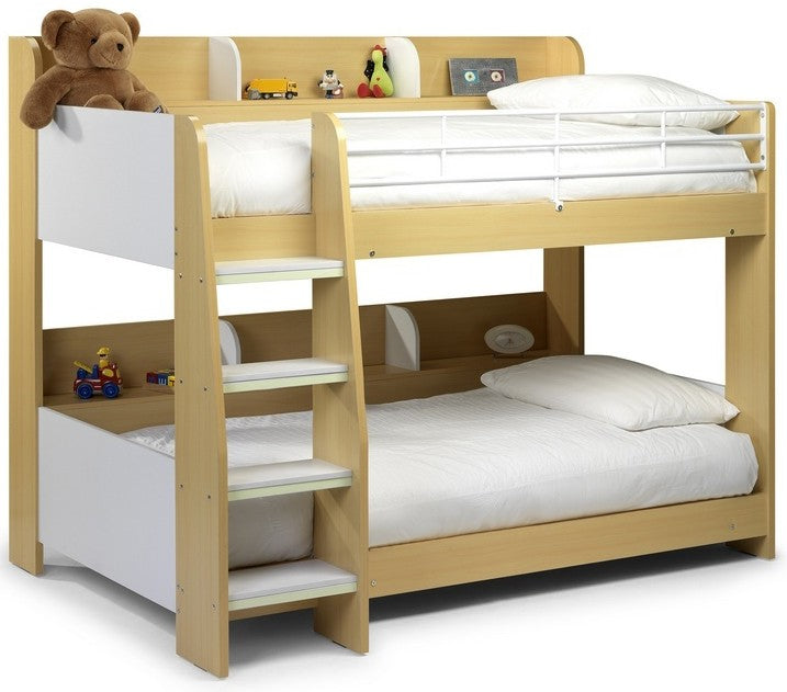 Domino Modern Children Wooden Bunk Bed Frame