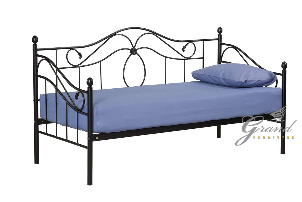 Apollo Black Day Bed with Trundle
