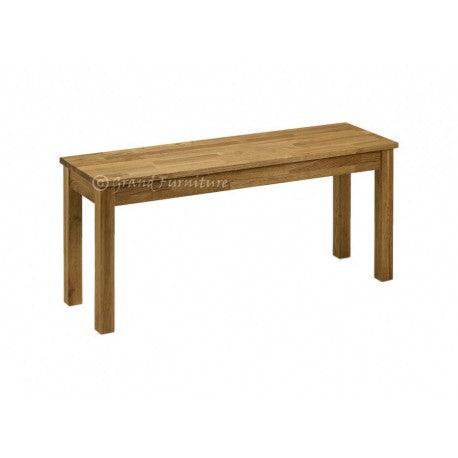 COXMOOR SOLID OAK WOODEN DINING BENCH