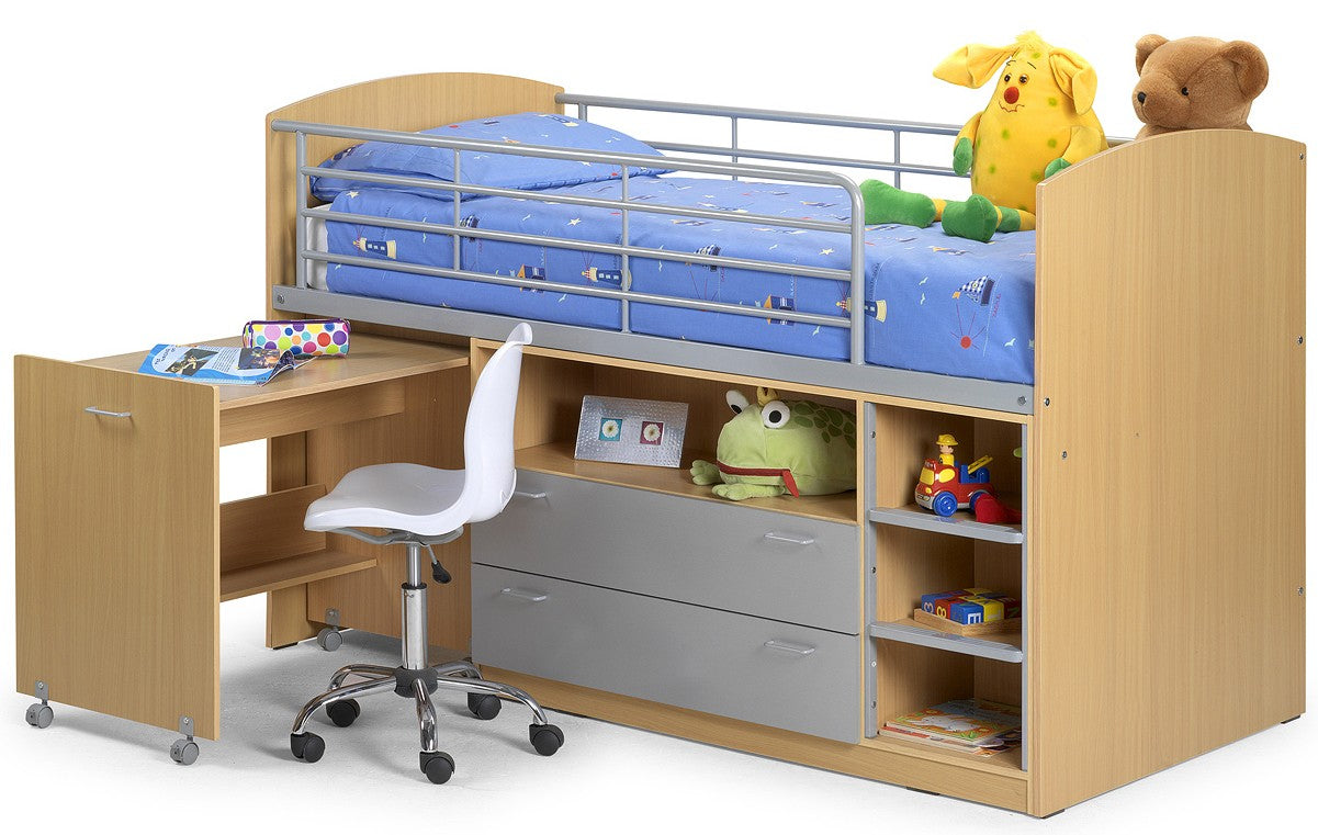 Leo Children Modern Bunk Bed Frame