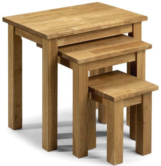 Coxmoor Solid Oak Wooden Nest of Tables