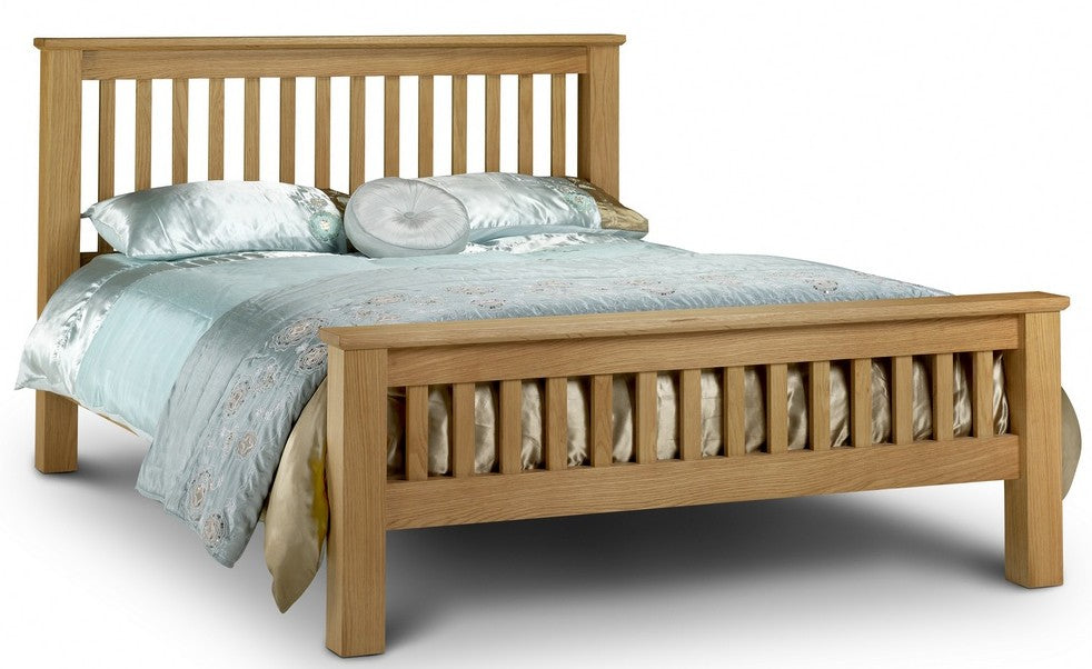 Amsterdam Chunky Solid Oak Wooden Bed Frame HFE