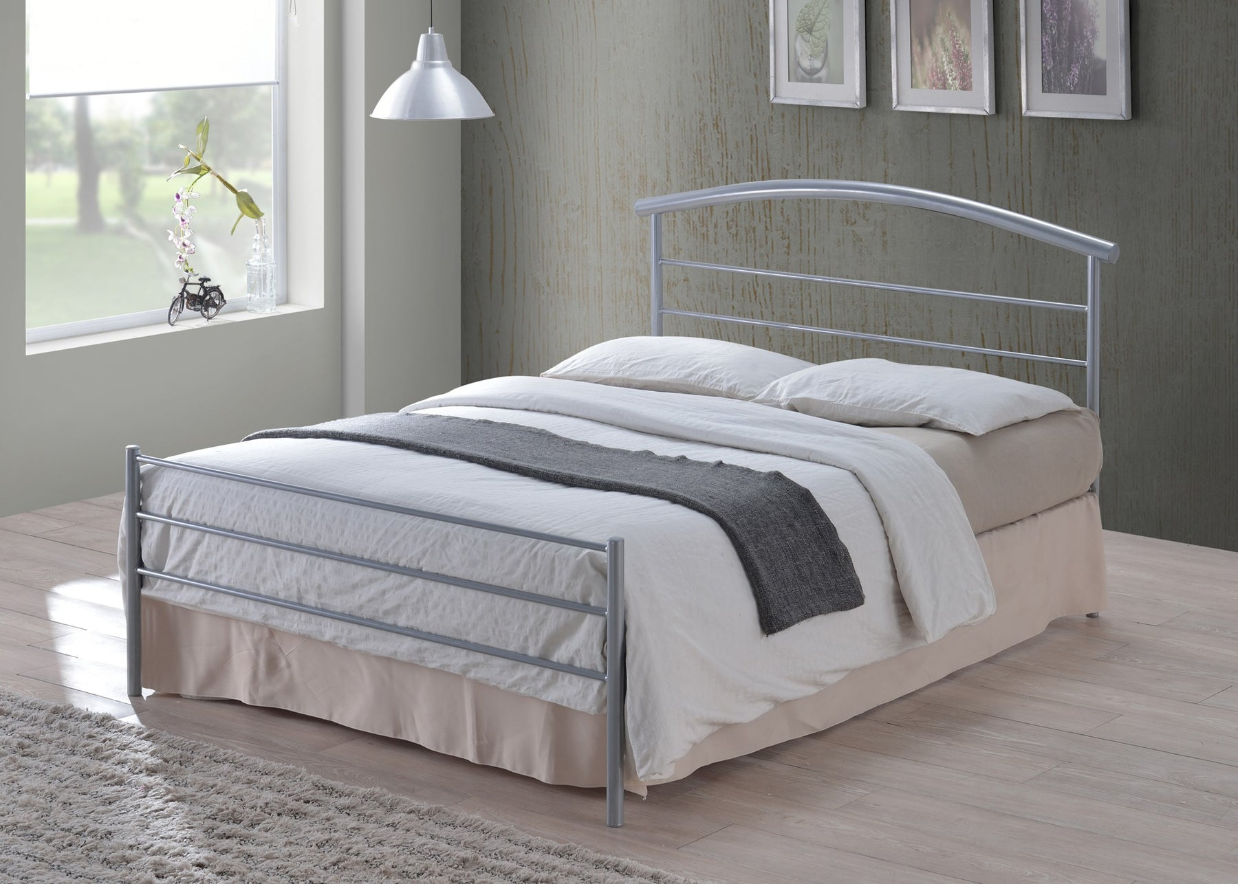 Brennington Silver Metal Bed Frame