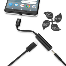 Load image into Gallery viewer, USB C to 3.5mm Headphone Charger 2 in 1 Adapter