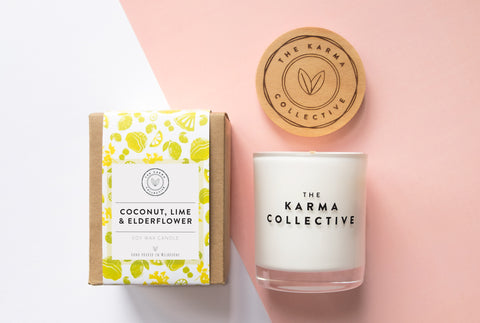 Coconut, Lime & Elderflower Candle (The Karma Collective)