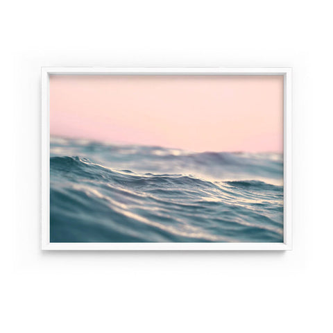 Blush Sky and Soft Waves Print