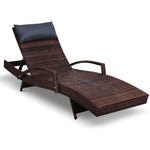 Gardeon Outdoor Sun Lounge Furniture Day Bed Wicker Pillow Sofa Set
