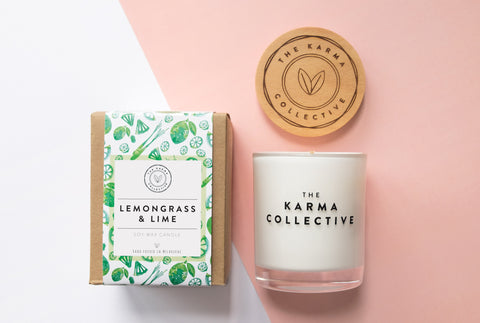 Lemongrass & Lime Candle (The Karma Collective)