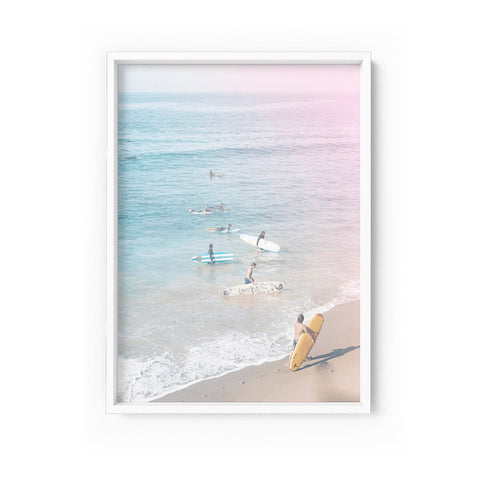 Into the Surf California Pastels Print