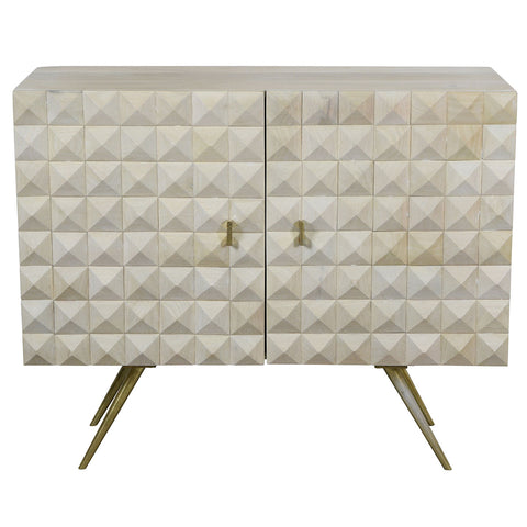 Apollo Buffet - geometric raised wood