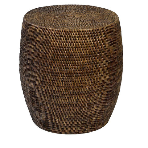 Plantation Rattan Drum/Side Table