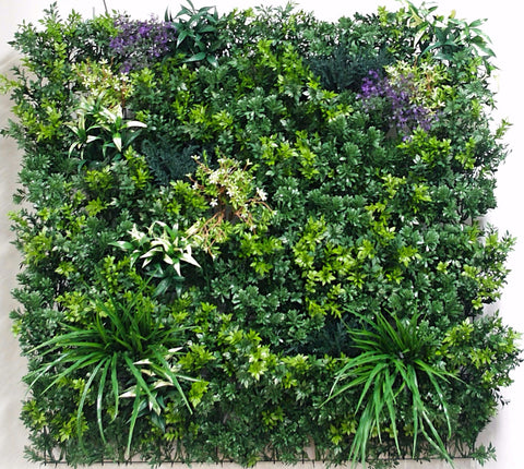 UV Stabilized White Summer Fields Select Range Vertical Garden 100cm X 100cm