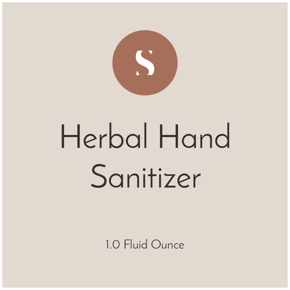 Herbal Hand Sanitizer (Free & Donation Based)