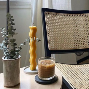 Muske Beeswax Ripple Candle