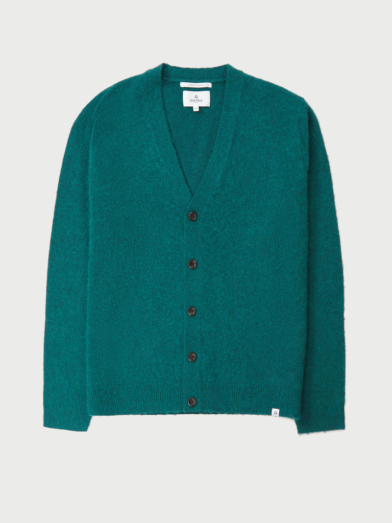 Fryken Green High Break Cardigan
