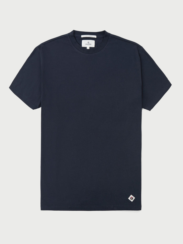 Larsson Navy Short Sleeve T-Shirt