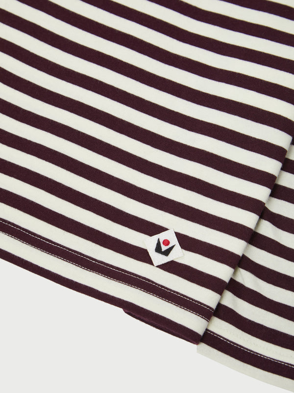 Axelsson Wine Long Sleeve Stripe Breton T-Shirt