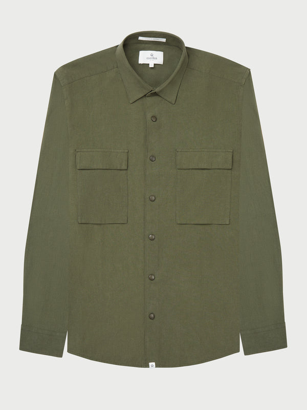 Karlstad Cotton & Linen Utility Shirt