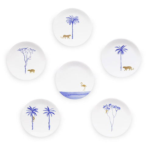 Full Set - 6x Coupe Plates 22cm