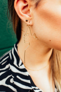 Gilded Silhouette Earrings