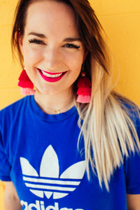 Lipstick Palette Tassel Earrings