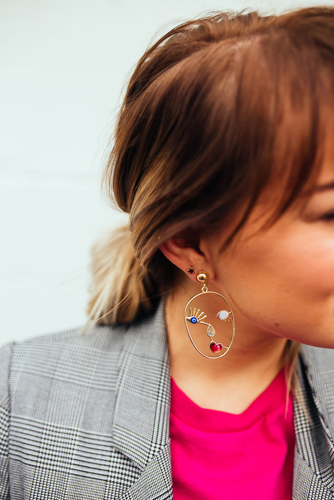 Nobble Face Earrings
