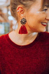 Gryffindor Lion Tassel Earrings