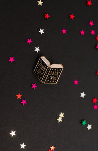 """Turn to Page 394"" Enamel Pin"