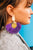 Ultraviolet Geo Fringe Earrings
