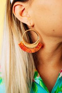 Iridescent Summer Fringe Earrings