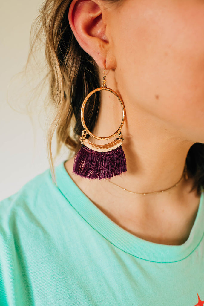 Royal Nomad Fringe Earrings