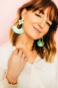 Simply Sage Fringe Earrings