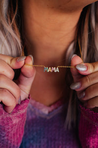 Multicolored Mama Necklace-HYPOALLERGENIC