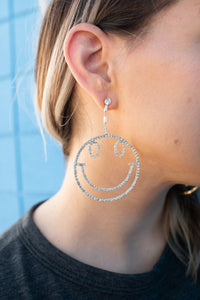 Smiley Glam Drop Earrings