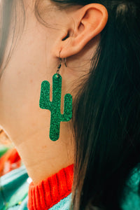 Glam Cactus Earrings