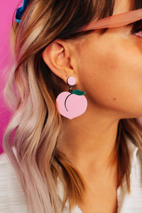Just Peachy Drop Earrings