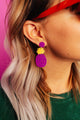 Purple FINEapple Drop Earrings