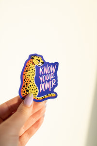 """Know Your Power"" Vinyl Sticker"