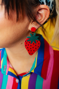 Strawberry Love Drop Earrings