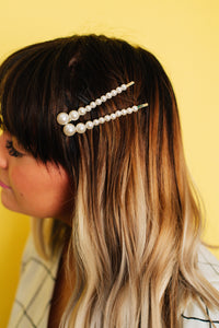 Pearl Love Trio Barrettes