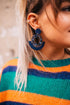 Navy Matey Earrings