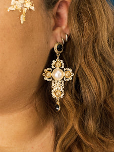Cross My Heart Drop Earring