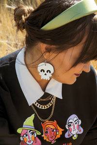 Never Dull Skull Drop Earrings