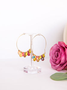 Fall Gem Hoops