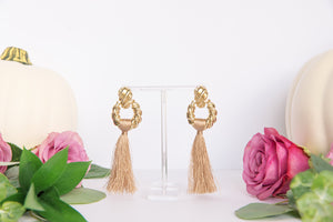Golden Boy Tassel Drop Earrings