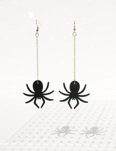 Black Widow Baby Drop Earrings