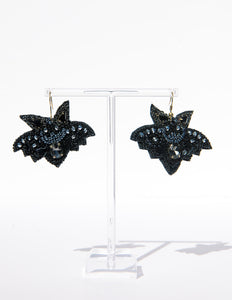 Elvira's Bat Drop Earrings