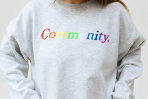 The Communi-tee Crewneck Sweatshirt-Embroidered