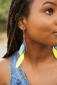 Shake A Tail Feather Drop Earrings